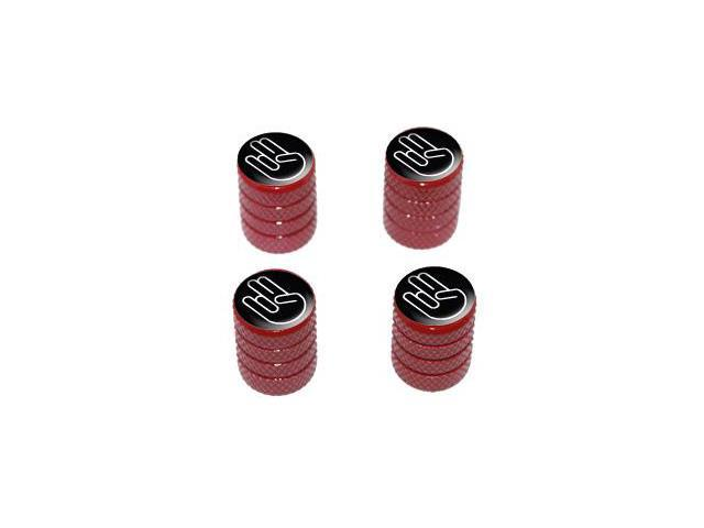 Shocker Hand Gesture - Tire Rim Valve Stem Caps - Red