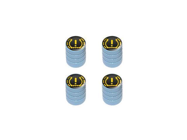 TPMS Tire Pressure Monitoring System Symbol - Tire Rim Valve Stem Caps - Light Blue