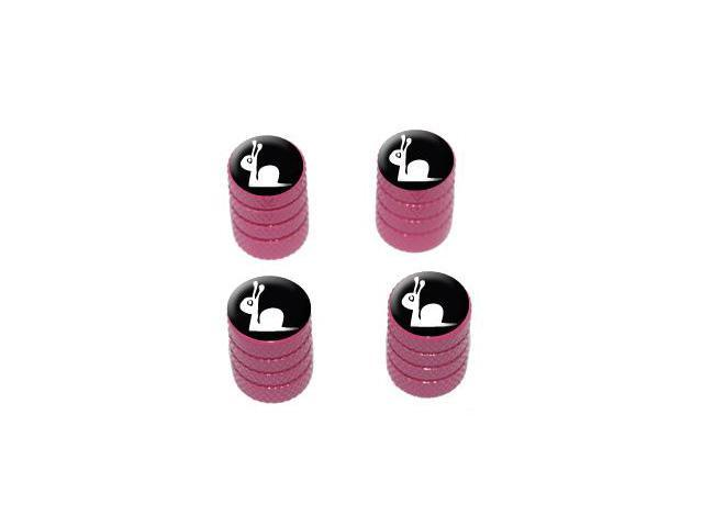 Slow Snail - Tire Rim Valve Stem Caps - Pink