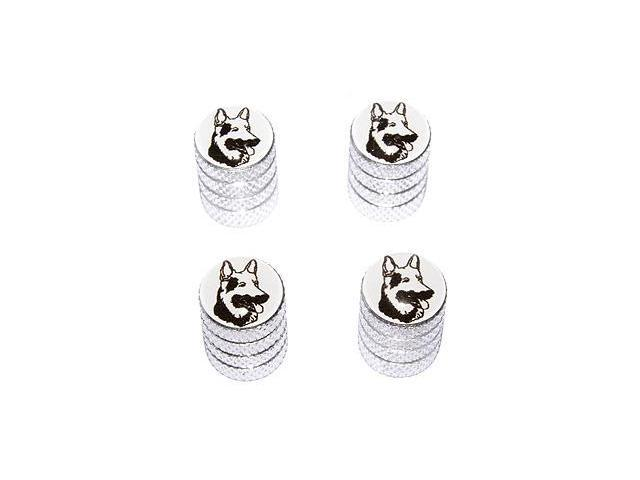 German Shepherd - Dog Tire Rim Valve Stem Caps - Aluminum