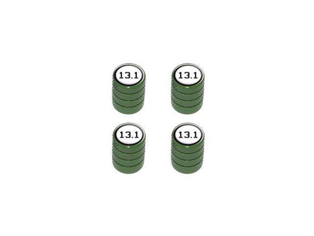 13.1 Half Marathon - Tire Rim Valve Stem Caps - Green