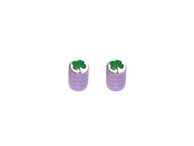 Four Leaf Clover - Tire Rim Valve Stem Caps - Motorcycle Bike Bicycle - Purple
