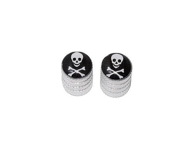 Skull and Crossbones Pirate Valve Stem Caps - Motorcycle Bike Bicycle - Aluminum