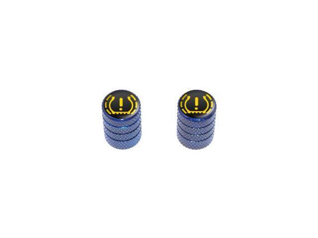 TPMS Tire Pressure Monitoring System Symbol - Tire Rim Valve Stem Caps - Motorcycle Bicycle - Blue