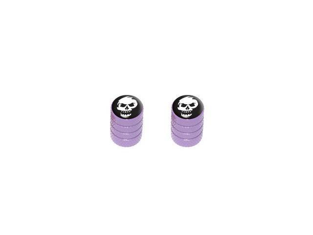 Skull Abstract - Tire Rim Valve Stem Caps - Motorcycle Bike Bicycle - Purple