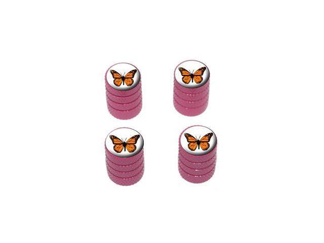 Monarch Butterfly - Tire Rim Valve Stem Caps - Pink