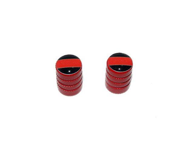 Thin Red Line - Firemen Tire Rim Valve Stem Caps - Motorcycle Bike Bicycle - Red