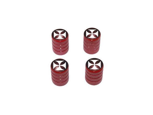 Iron Cross - Tire Rim Valve Stem Caps - Red