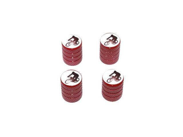Cycling - Tire Rim Valve Stem Caps - Red