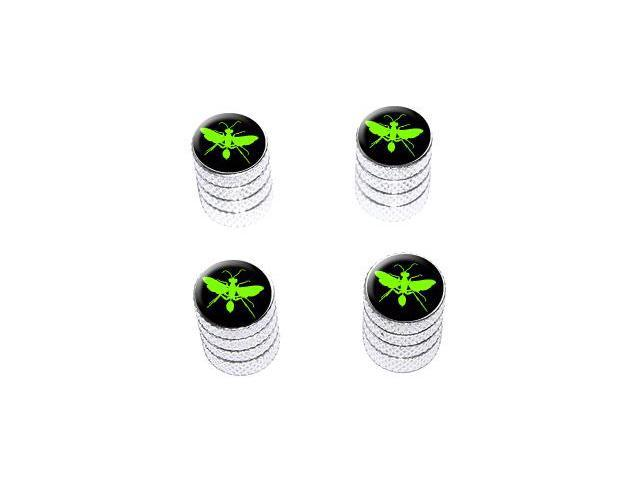 Hornet Wasp - Green - Tire Rim Valve Stem Caps - Aluminum