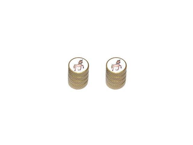 Unicorn - Fantasy - Tire Rim Wheel Valve Stem Caps - Motorcycle Bike Bicycle - Gold