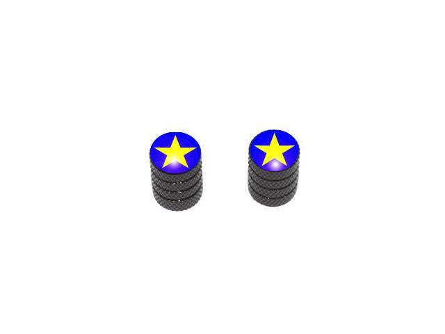 Star - Tire Rim Valve Stem Caps - Motorcycle Bike Bicycle - Black