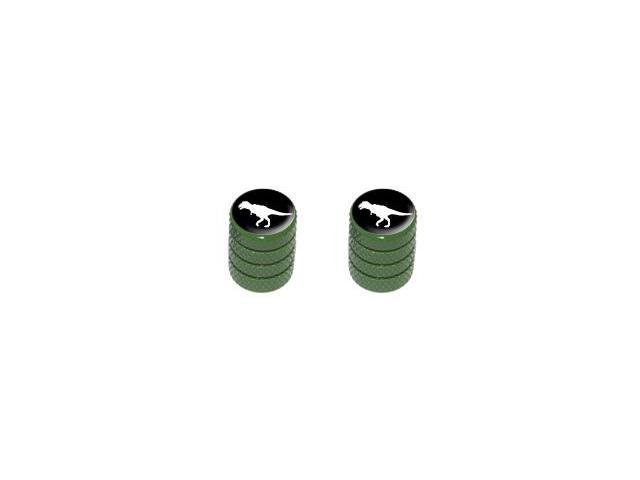 Dinosaur Tyrannosaurus Rex - Tire Rim Valve Stem Caps - Motorcycle Bike Bicycle - Green