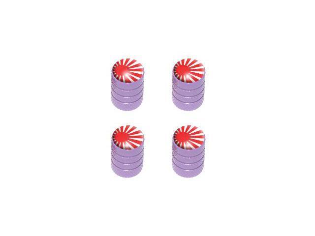 Japan Flag - Rising Sun Tire Rim Valve Stem Caps - Purple