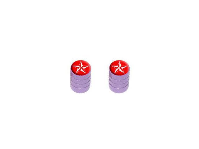 Nautical Star Red - Tire Rim Valve Stem Caps - Motorcycle Bike Bicycle - Purple
