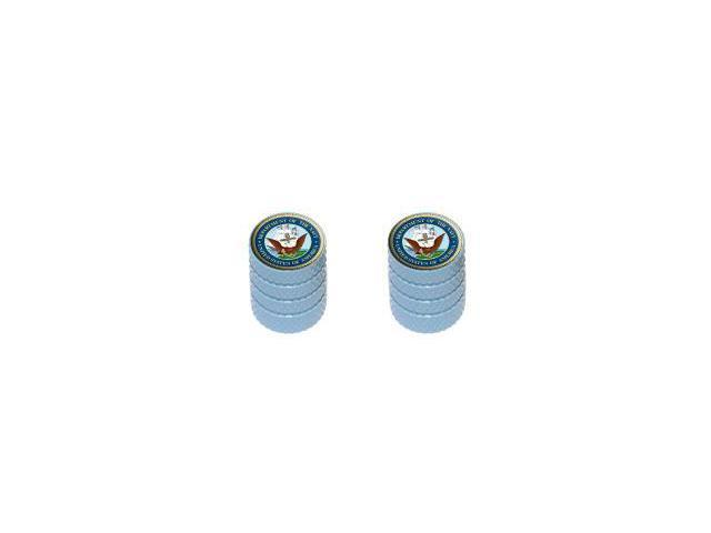 Navy Seal - United States Military - Tire Rim Wheel Valve Stem Caps - Motorcycle Bike - Light Blue