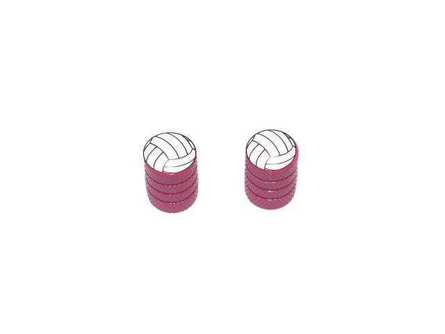 Volleyball - Sport Tire Rim Valve Stem Caps - Motorcycle Bike Bicycle - Pink