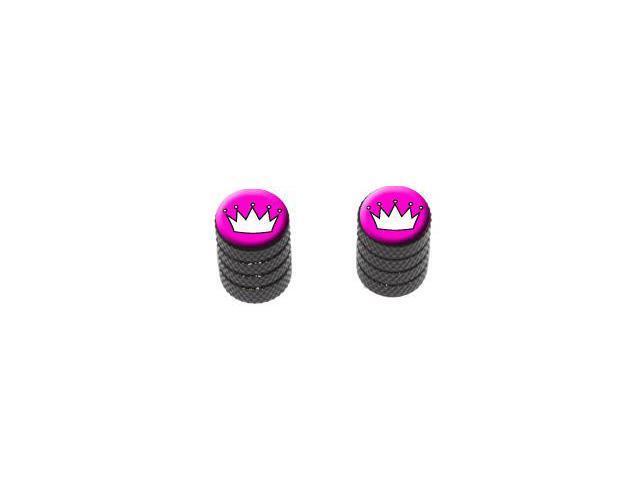 Princess Crown Tiara - Tire Rim Valve Stem Caps - Motorcycle Bike Bicycle - Black