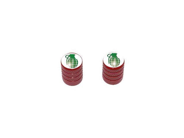 Grenade - Tire Rim Valve Stem Caps - Motorcycle Bike Bicycle - Red