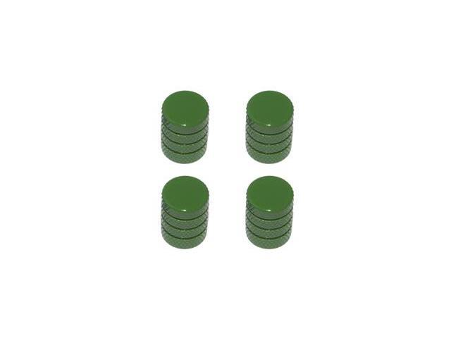 Tire Rim Wheel Aluminum Valve Stem Caps - Green Color