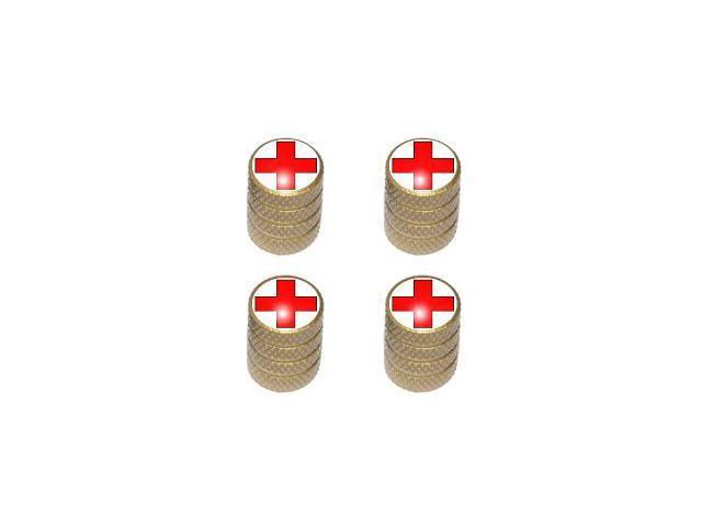 Red Cross - EMT RN Tire Rim Valve Stem Caps - Gold