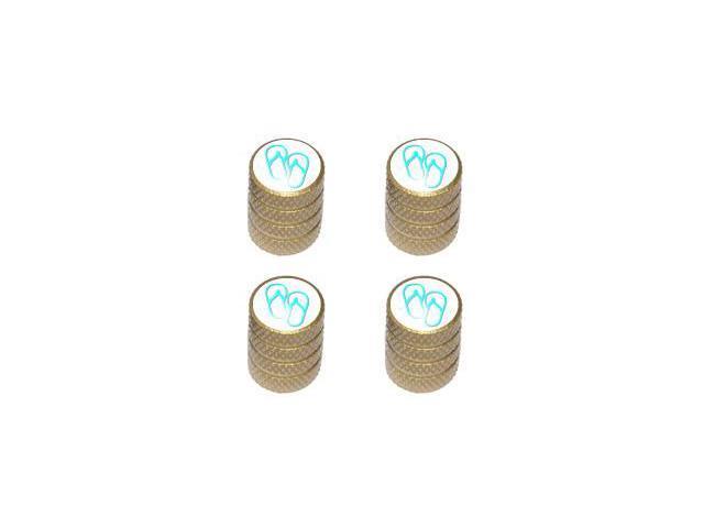 Flip Flops - Tire Rim Valve Stem Caps - Gold