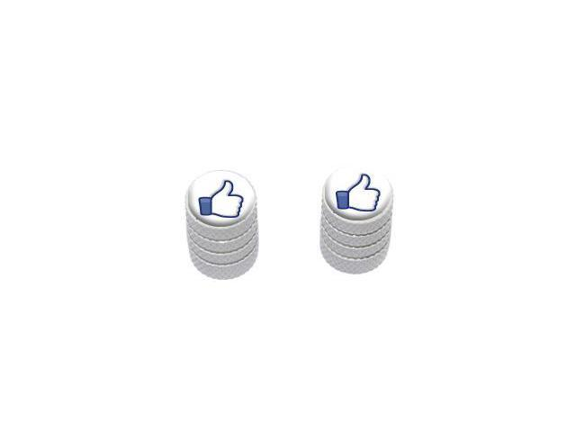 You Like This - Facebook - Tire Rim Valve Stem Caps - Motorcycle Bike Bicycle - White