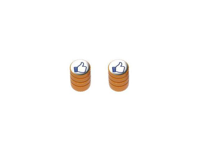 You Like This - Facebook - Tire Rim Valve Stem Caps - Motorcycle Bike Bicycle - Orange