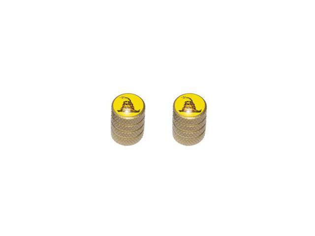 Gadsden - Don't Tread on Me Tire Valve Stem Caps - Motorcycle Bike Bicycle - Gold