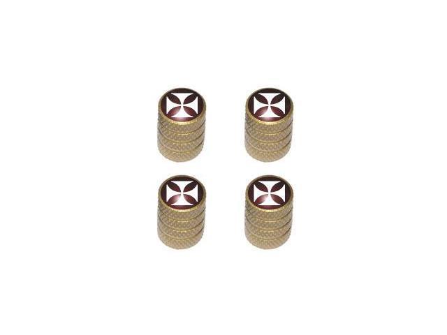 Iron Cross - Tire Rim Valve Stem Caps - Gold