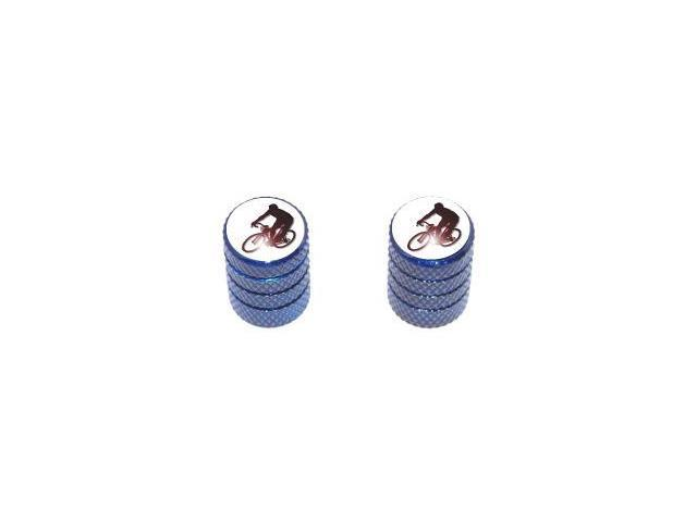 Cycling - Tire Rim Valve Stem Caps - Motorcycle Bike Bicycle - Blue