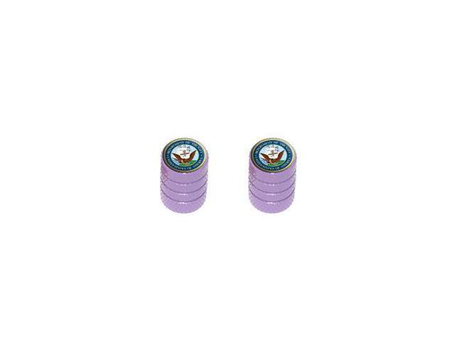 Navy Seal - United States Military - Tire Rim Wheel Valve Stem Caps - Motorcycle Bicycle - Purple
