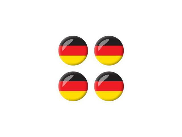German Germany Flag - Wheel Center Cap 3D Domed Set of 4 Stickers Badges