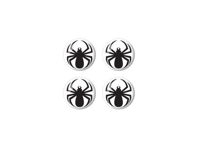 Spider Black - Spiderman - Wheel Center Cap 3D Domed Set of 4 Stickers Badges
