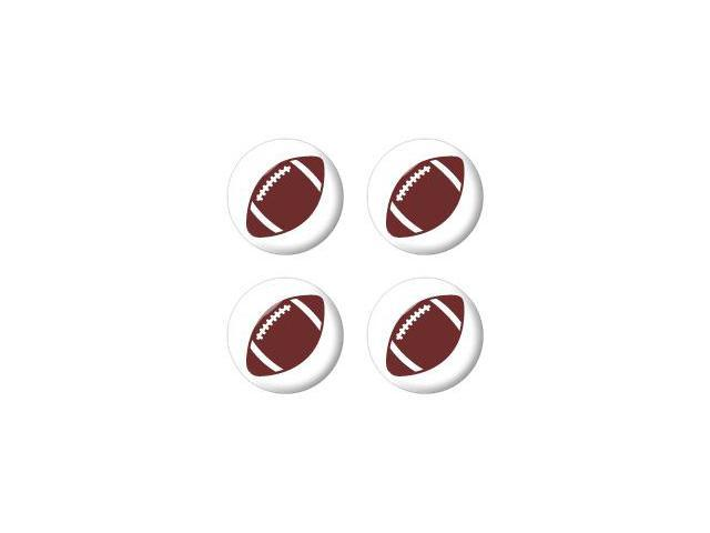 Football - NFL - Wheel Center Cap 3D Domed Set of 4 Stickers Badges