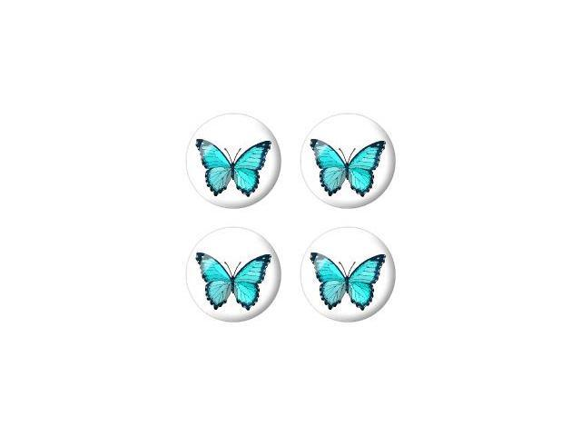 Butterfly - Wheel Center Cap 3D Domed Set of 4 Stickers Badges