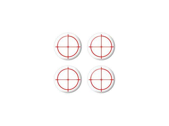 Sniper Scope Sight Target - Wheel Center Cap 3D Domed Set of 4 Stickers Badges