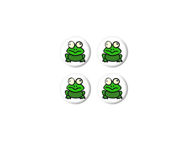 Frog Toad - Wheel Center Cap 3D Domed Set of 4 Stickers Badges