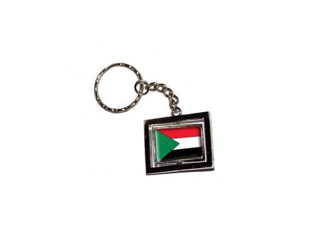 Sudan Country Flag Keychain Key Chain Ring
