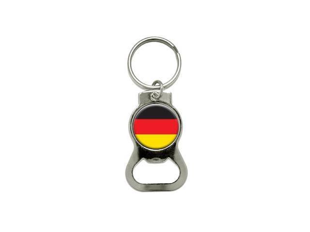 German Germany Flag - Bottle Cap Opener Keychain Ring