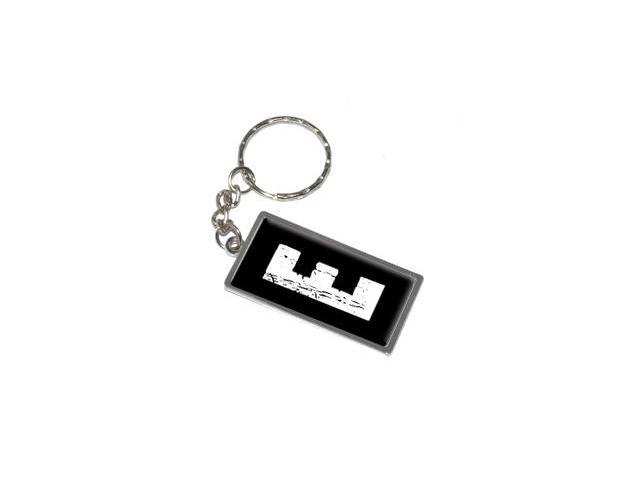 Letter Initial E Keychain Key Chain Ring