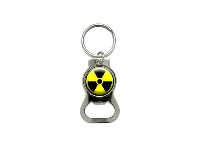 Radioactive Nuclear Warning Symbol - Bottle Cap Opener Keychain Ring