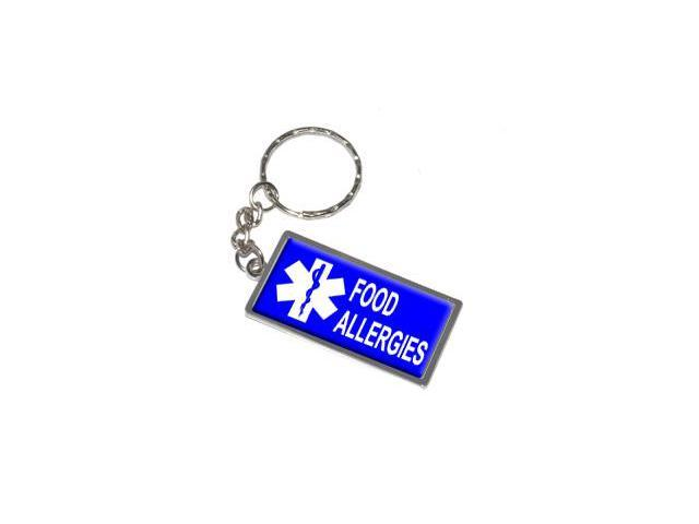 Food Allergies Keychain Key Chain Ring