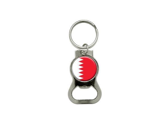 Bahrain Flag - Bottle Cap Opener Keychain Ring