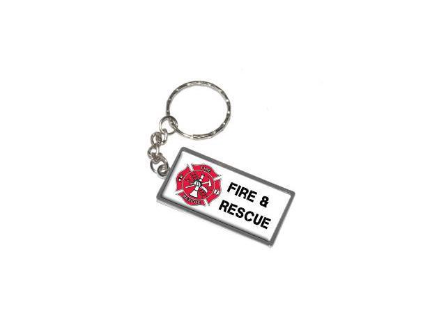 Fire and Rescue - Firemen EMT Keychain Key Chain Ring