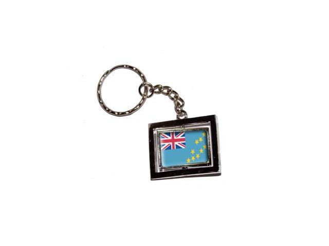 Tuvalu Country Flag Keychain Key Chain Ring