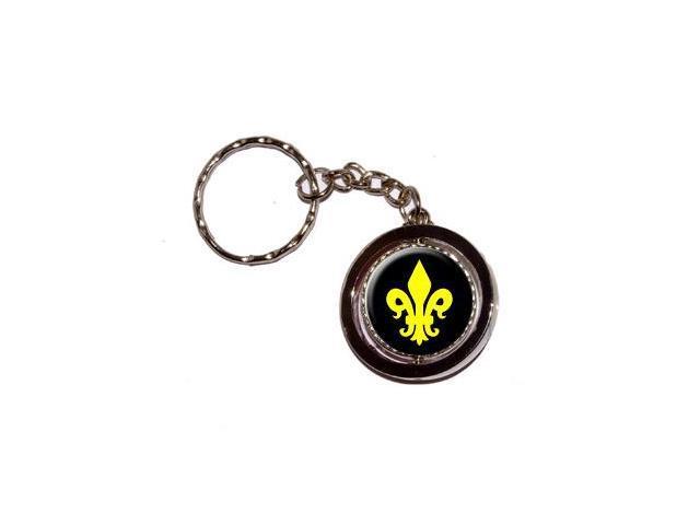 Fleur de Lis - Yellow Saints Keychain Key Chain Ring