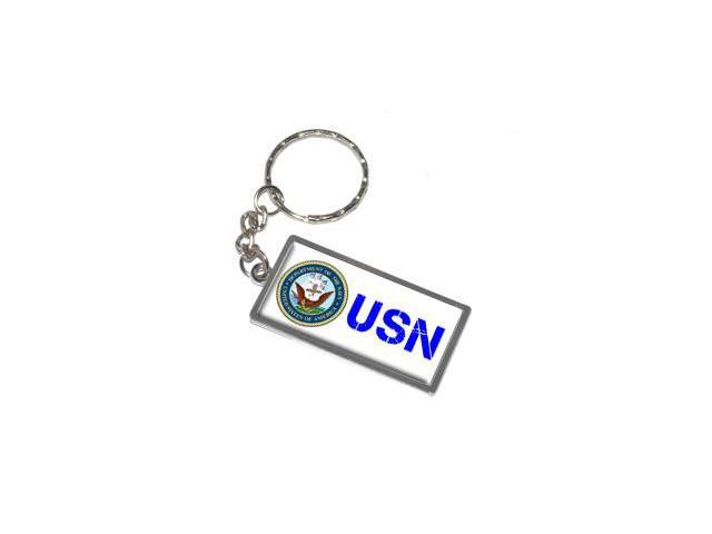 USN Navy Keychain Key Chain Ring