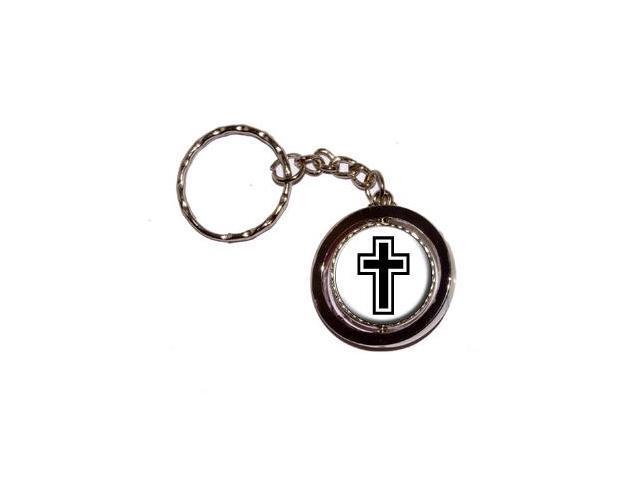 Cross - Christian Religious Keychain Key Chain Ring