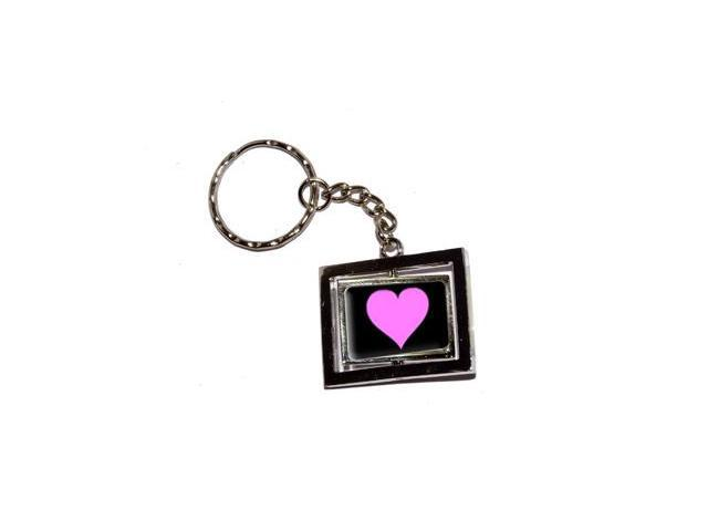 Pink Heart Keychain Key Chain Ring